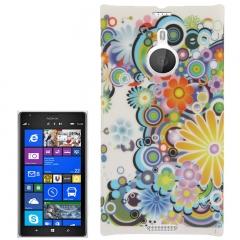 Чехол Узор для Nokia Lumia 1520 белый