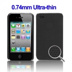 Перфорированный Чехол для iPhone 4s черный