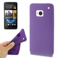 Чехол силиконовый для HTC One фиолетовый