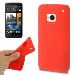 Чехол силиконовый для HTC One красный