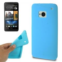 Чехол силиконовый для HTC One голубой