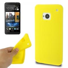 Чехол силиконовый для HTC One желтый