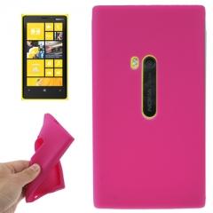 Чехол силиконовый для Nokia Lumia 920 малиновый