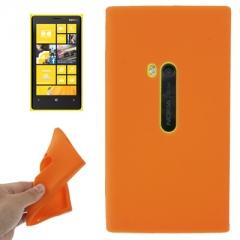 Чехол силиконовый для Nokia Lumia 920 оранжевый