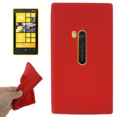 Чехол силиконовый для Nokia Lumia 920 красный