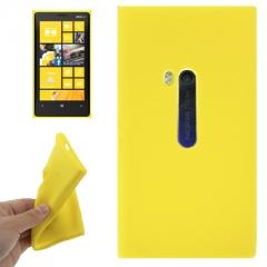 Чехол силиконовый для Nokia Lumia 920 желтый