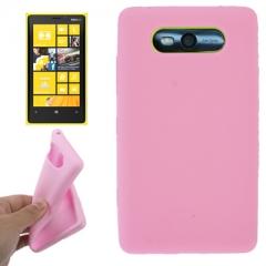 Чехол силиконовый для Nokia Lumia 820 розовый