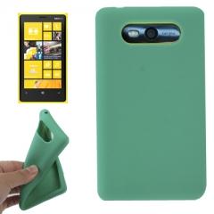 Чехол силиконовый для Nokia Lumia 820 зеленый