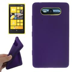 Чехол силиконовый для Nokia Lumia 820 фиолетовый