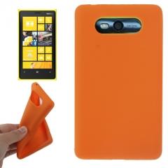 Чехол силиконовый для Nokia Lumia 820 оранжевый
