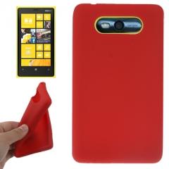 Чехол силиконовый для Nokia Lumia 820 красный