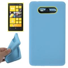 Чехол силиконовый для Nokia Lumia 820 голубой