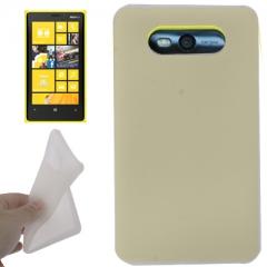 Чехол силиконовый для Nokia Lumia 820 белый