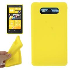 Чехол силиконовый для Nokia Lumia 820 желтый