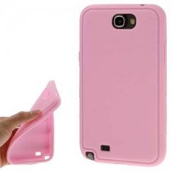 Силиконовый чехол - накладка для Samsung Galaxy Note 2 розовый