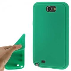 Силиконовый чехол для Samsung Galaxy Note 2 зеленый