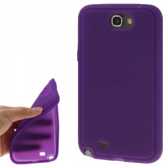 Силиконовый чехол для Samsung Galaxy Note 2 фиолетовый