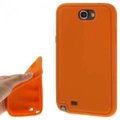 Силиконовый чехол для Samsung Galaxy Note 2 оранжевый