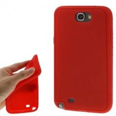 Силиконовый чехол для Samsung Galaxy Note 2 красный