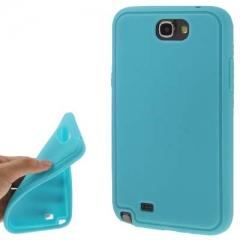 Силиконовый чехол - накладка для Samsung Galaxy Note 2 голубой