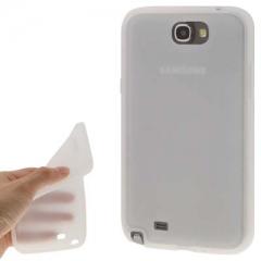 Силиконовый чехол - накладка для Samsung Galaxy Note 2 прозрачный