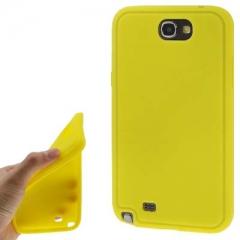 Силиконовый чехол для Samsung Galaxy Note 2 желтый