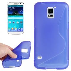Чехол силиконовый Волна для Samsung Galaxy S5 синий