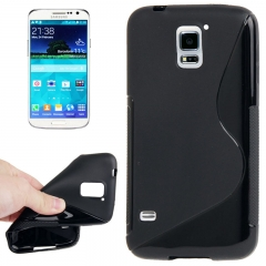 Чехол силиконовый Волна для Samsung Galaxy S5 черный
