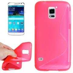Чехол силиконовый Волна для Samsung Galaxy S5 розовый