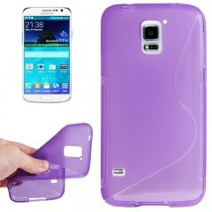 Чехол силиконовый Волна для Samsung Galaxy S5 фиолетовый