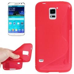 Чехол силиконовый Волна для Samsung Galaxy S5 красный