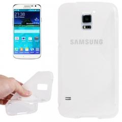 Чехол силиконовый Волна для Samsung Galaxy S5 прозрачный