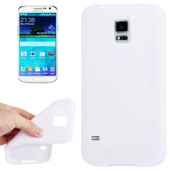 Чехол силиконовый Волна для Samsung Galaxy S5 белый
