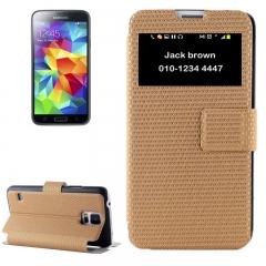 Чехол книжка для Samsung Galaxy S5 золотой
