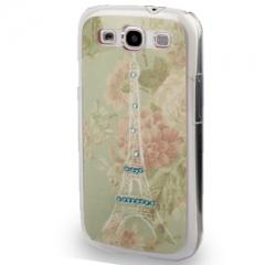 Чехол с Эйфелевой башней для Samsung Galaxy S3 со стразами