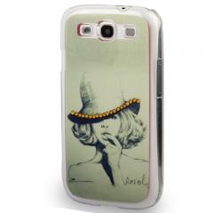 Чехол Девушка для Samsung Galaxy S3 со стразами