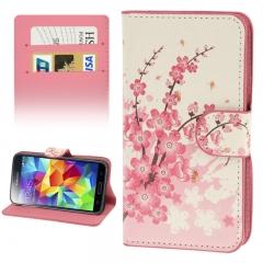 Чехол книжка для Samsung Galaxy S5 Mini Сакура