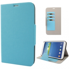 Чехол книжка для Samsung Galaxy Tab 3 8.0 голубой