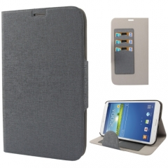 Чехол книжка для Samsung Galaxy Tab 3 8.0 серый