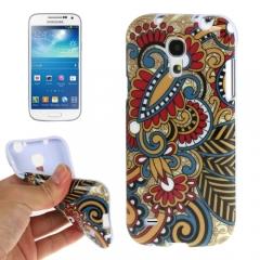 Чехол с узором для Samsung Galaxy S4 Mini коричневый