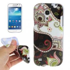 Чехол с узором для Samsung Galaxy S4 Mini черный
