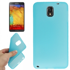 Силиконовый чехол для Samsung Galaxy Note 3 голубой