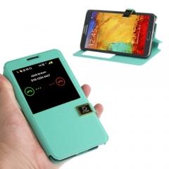 Чехол книжка для Samsung Galaxy Note 3 зеленый