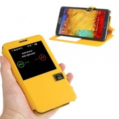 Чехол книжка для Samsung Galaxy Note 3 желтый