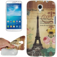 Чехол силиконовый для Samsung Galaxy Mega 6.3 Эйфелева башня