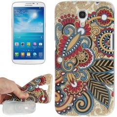 Чехол для Samsung Galaxy Mega 6.3 Узор коричневый