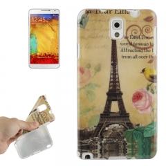 Чехол силиконовый для Galaxy Note 3 Эйфелева башня