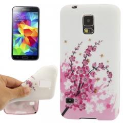 Чехол силиконовый для Samsung Galaxy S5 Mini Сакура