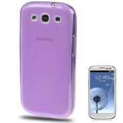 Силиконовый чехол для Samsung Galaxy S3 фиолетовый
