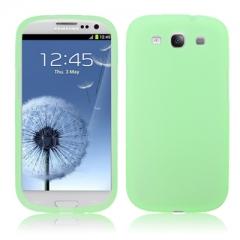 Чехол силиконовый для Samsung Galaxy S3 салатовый